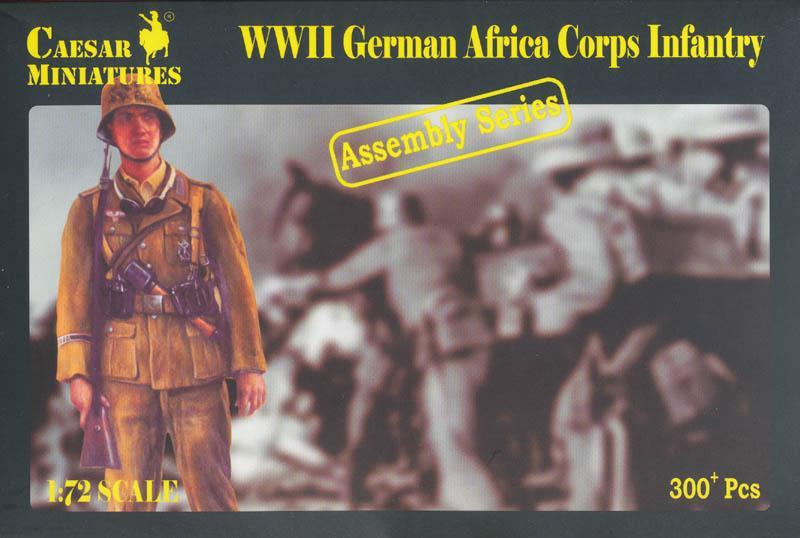 CAESAR MINIATURES 7713 German Africa Korps Infantry (WWII)