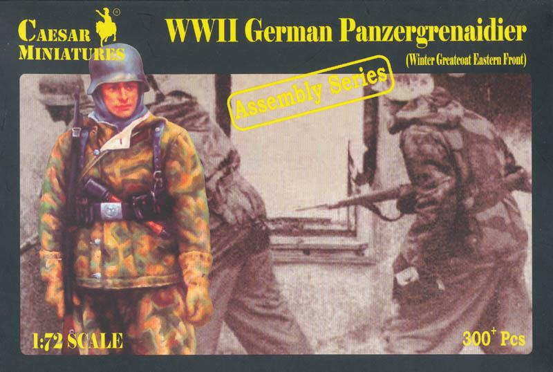 CAESAR MINIATURES 7714 German Panzergrenadiers in Winter Greatcoat (WWII)