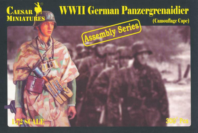 CAESAR MINIATURES 7717 German Panzergrenadier in Camouflage Capes (WWII)
