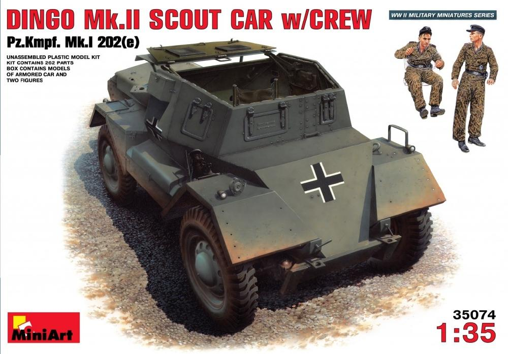 MINIART 35074 Dingo Mk.II Scout Car with German Crew (Captured)