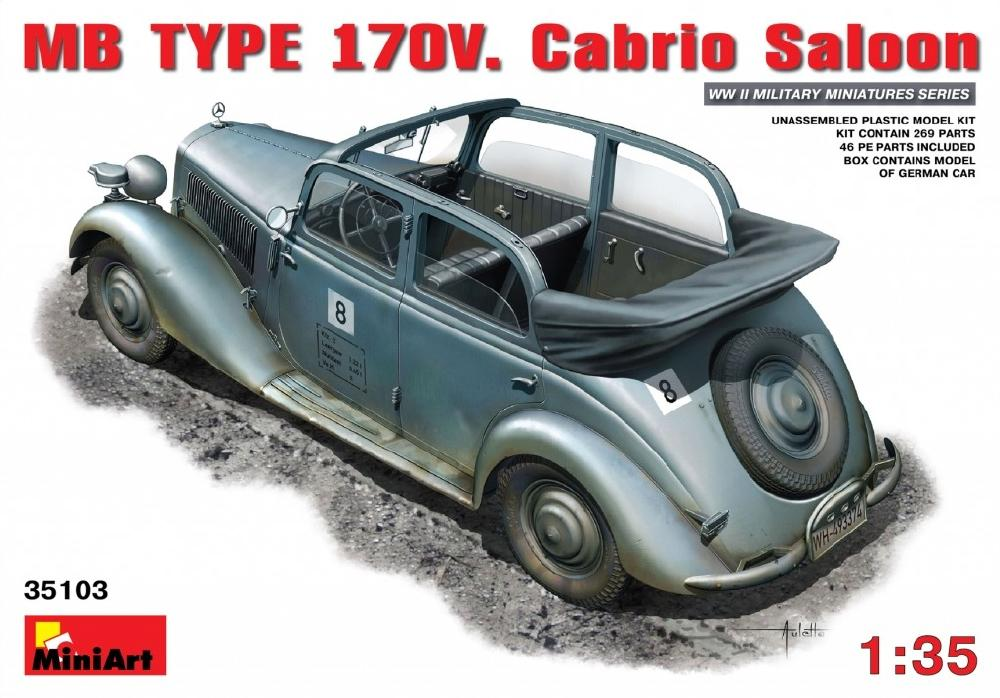 MINIART 35103 Mercedes-Benz Type 170V Cabrio Saloon (WWII)