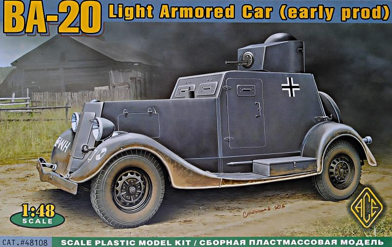 ACE 48108 Soviet Armoured Car Ba-20 (Early)