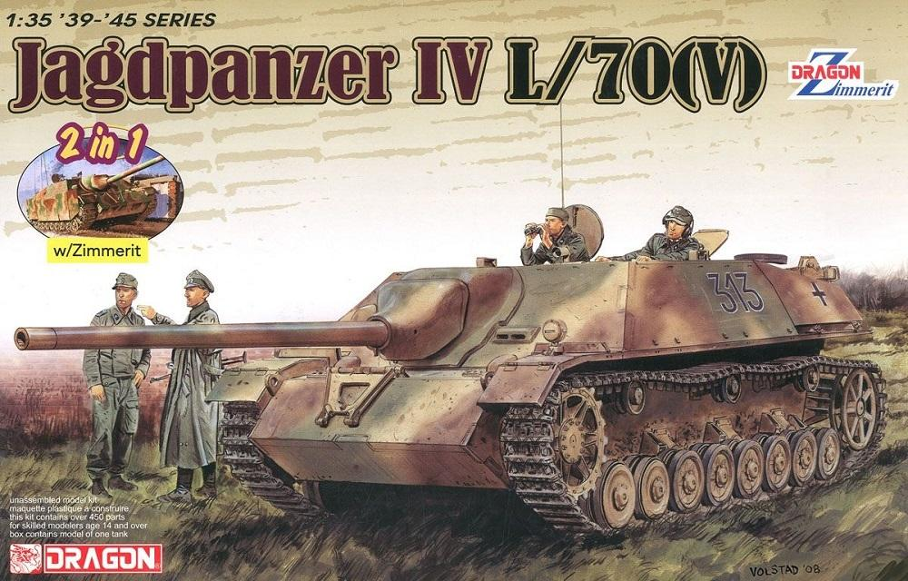 DRAGON 6498 German Jagdpanzer IV L/70(V) with Zimmerit (WWII)