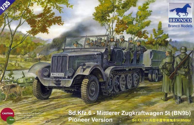 BRONCO MODELS CB35041 Sd.Kfz.6 Mittlerer Zugkraftwagen 5t (BN9b) Pioneer Version