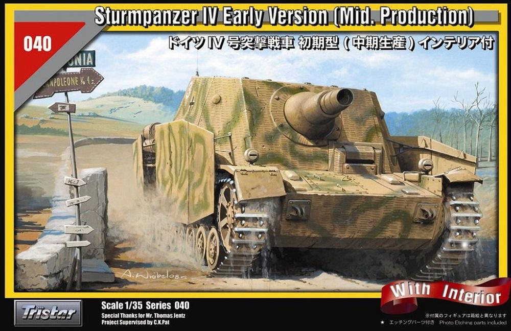 TRISTAR 35040 Sturmpanzer IV Early Version (Mid. Production) with Interior