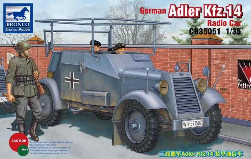 BRONCO MODELS CB35051 German Adler Kfz.14 Radio Car (WWII)