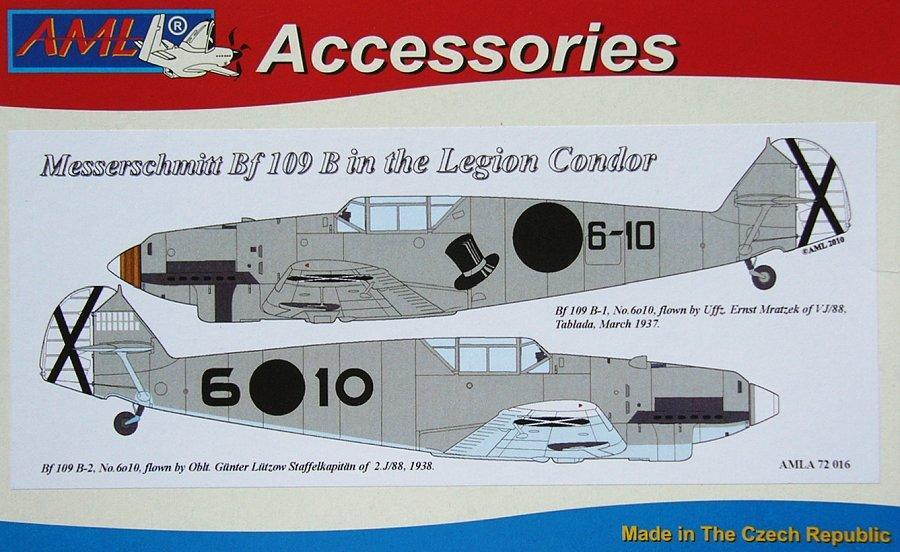 AML A72016 Messerschmitt Bf 109B (Legion Condor)