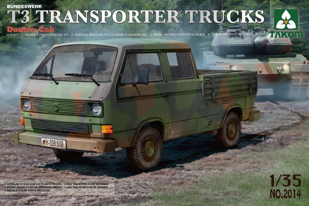 TAKOM 2014 Bundeswehr T3 Transporter Pick-up Truck (Double Cab)