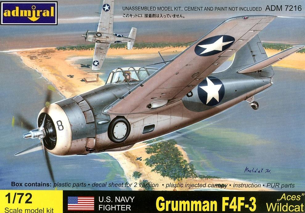 ADMIRAL - AZ MODEL 7216 Grumman F4F-3 'Wildcat' (WWII)