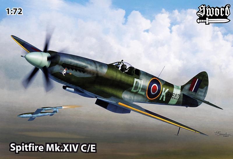 SWORD 72095 Supermarine Spitfire Mk.XIVc/e