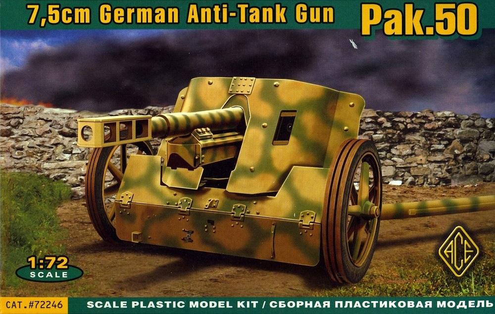 ACE 72246 German Anti-Tank Gun Pak 50 (7,5 cm)