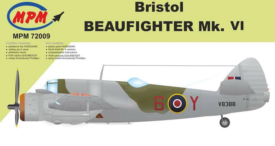 MPM 72009 Bristol Beaufighter Mk.VI