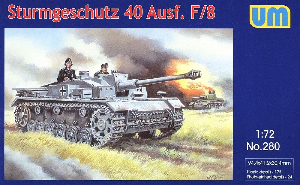 UNIMODEL 280 German Sturmgeschutz 40 Ausf.F/8