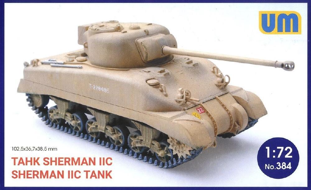 UNIMODEL 384 U.S. Medium Tank Sherman IIc