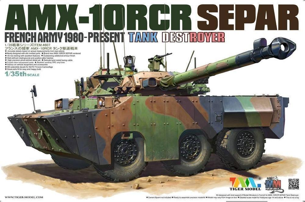 TIGER MODEL 4607 French Tank Destroyer AMX-10RCR 'Separ'