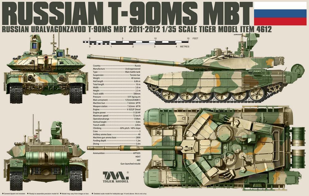 TIGER MODEL 4612 Russian Main Battle Tank T-90MS