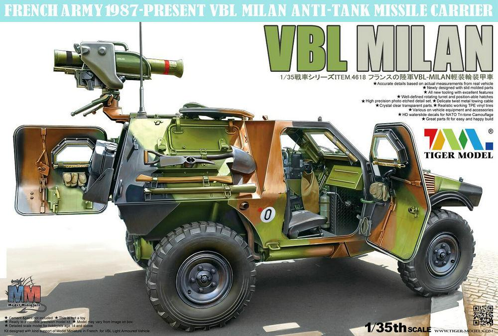 TIGER MODEL 4618 French VBL with Milan Anti-Tank Missile Launcher