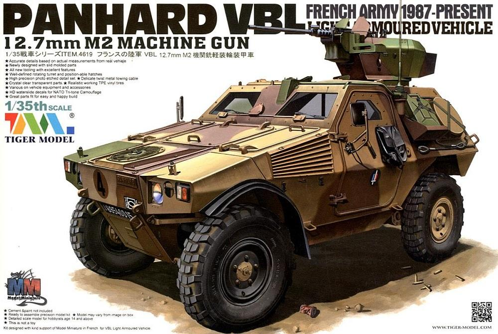 TIGER MODEL 4619 French Light Armoured Vehicle Panhard VBL (with 12,7mm M2 Machine Gun)