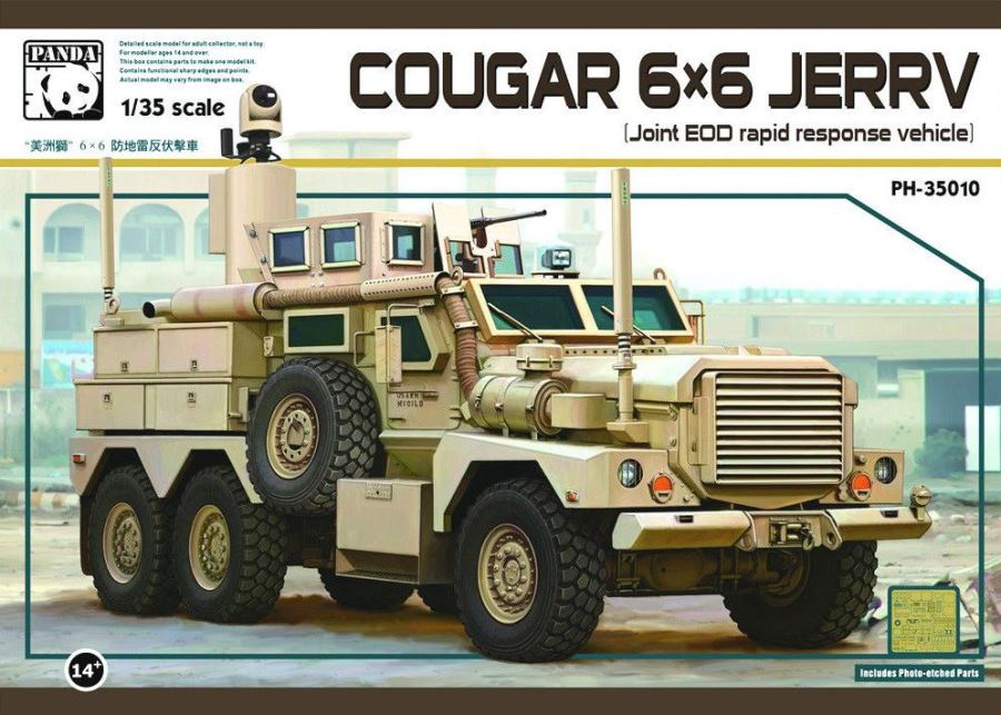 PANDA HOBBY 35010 Cougar 6x6 JERRV (Joint EOD Rapid Response Vehicle)