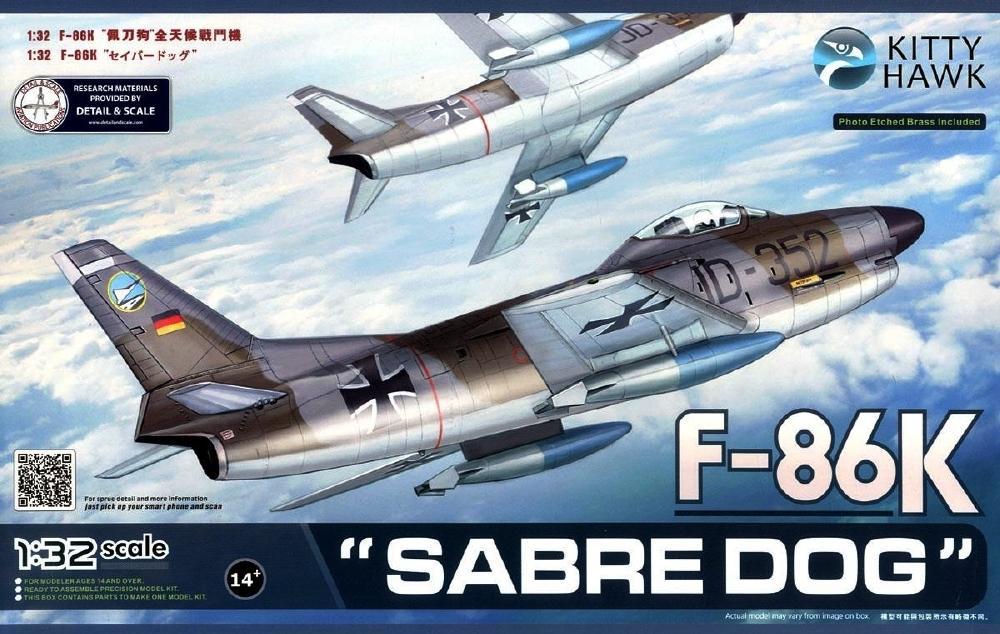 KITTYHAWK MODELS 32008 North-American F-86K 'Sabre'