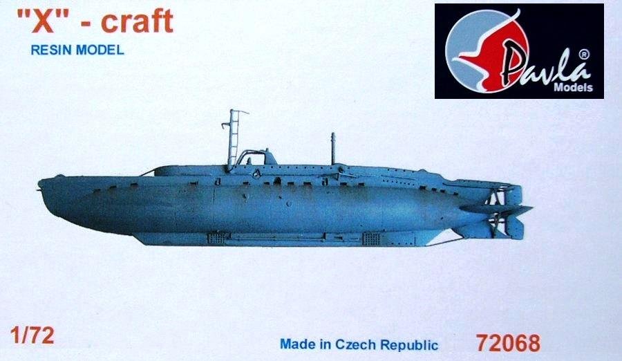PAVLA MODELS 72068 British Submarine 'X'-Craft (Resin)