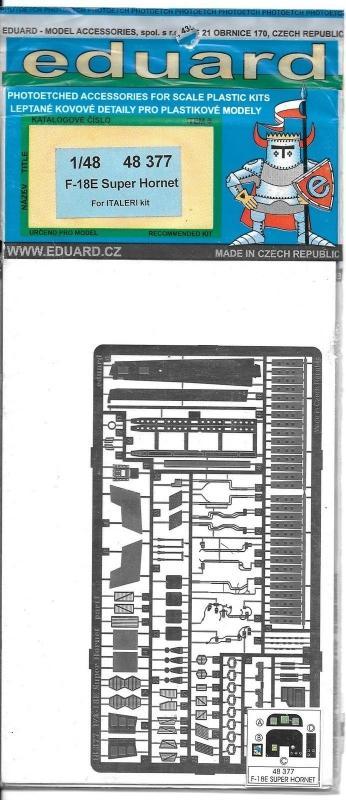 EDUARD 48377 Set for F-18E Super Hornet (Italeri)