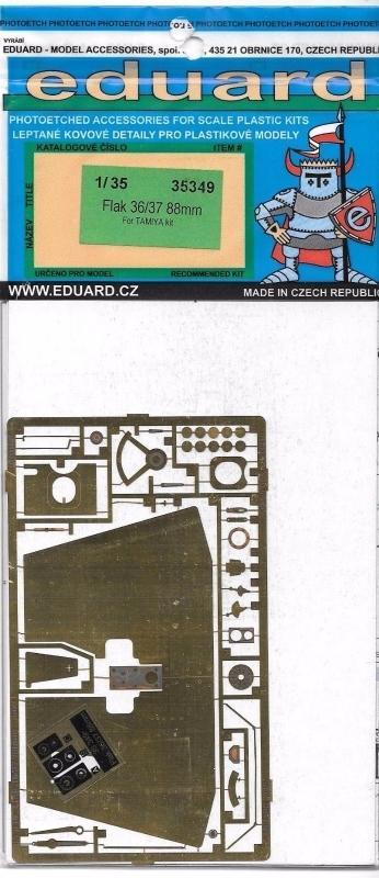 EDUARD 35349 Set for German Flak 36/37 88 mm (Tamiya)