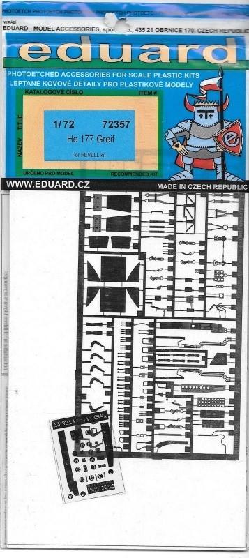 EDUARD 72357 Set for Heinkel He 177 Greif (Revell)