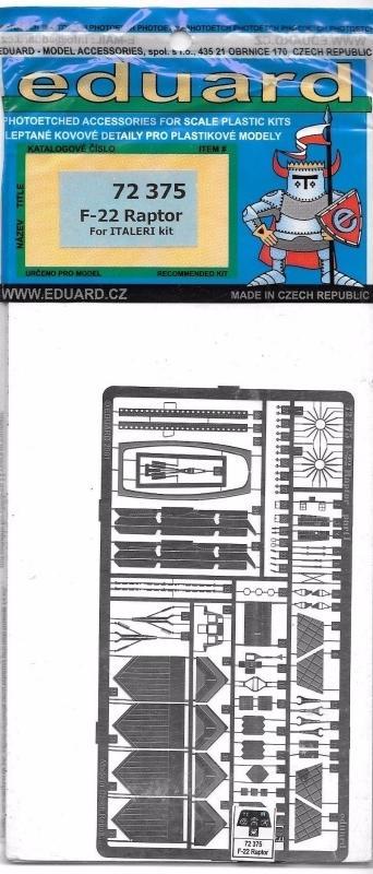 EDUARD 72375 Set for F-22 Raptor (Italeri)