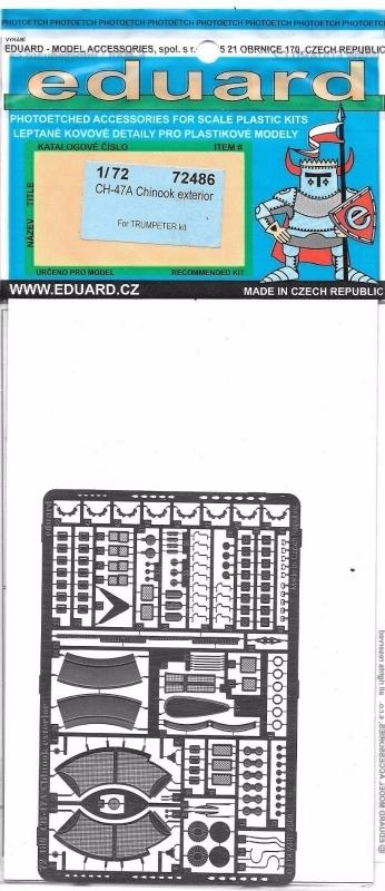 EDUARD 72486 Set for CH-47A Chinook Exterior (Trumpeter)
