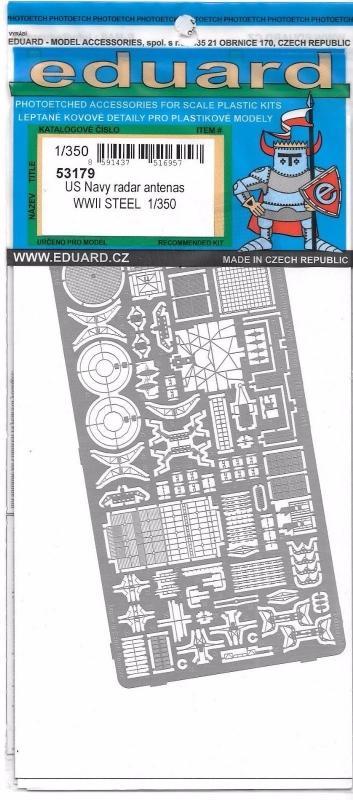 EDUARD 53179 Set for U.S. Navy Radar Antenas Steel (WWII)