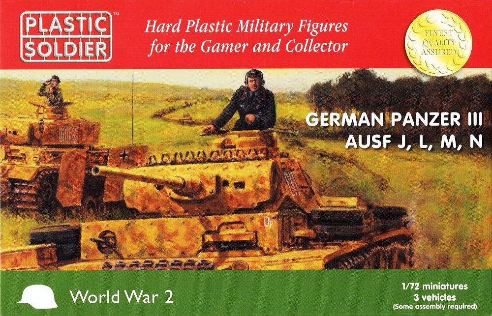 PLASTIC SOLDIER WW2V20018 German Medium Tank Pz.Kpfw.III Ausf.J/L/M/N