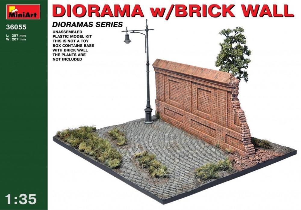 MINIART 36055 Diorama with Brick Wall