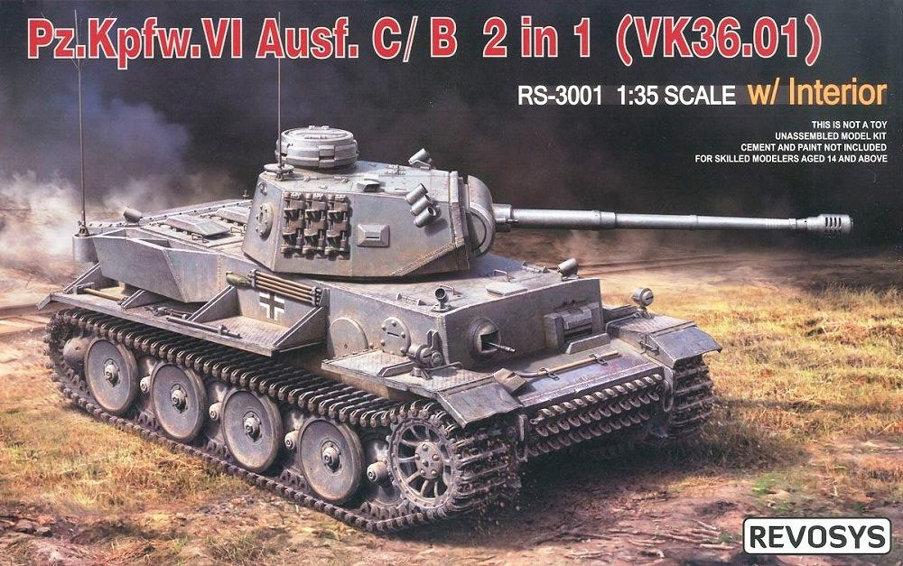 REVOSYS RS3001 German Pz.Kpfw.VI Ausf.C/B (VK36.01) with Interior (WWII)