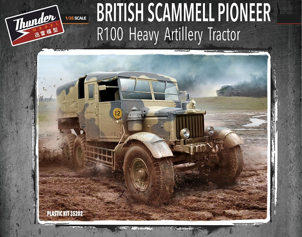 THUNDER MODEL 35202 British Heavy Artillery Tractor Scammell Pioneer R100