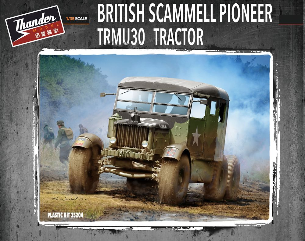 THUNDER MODEL 35204 British Tractor Scammell Pioneer TRMU30