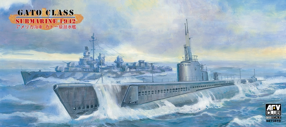 AFV CLUB SE73510 U.S.S. Gato Class Submarine (1942)