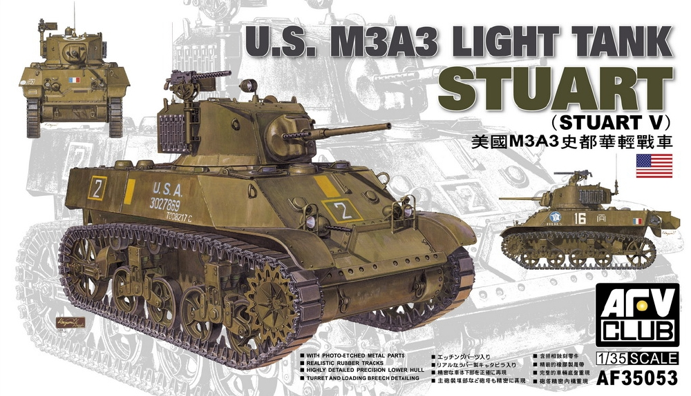 AFV CLUB AF35053 U.S. Light Tank M3A3 'Stuart' (WWII)