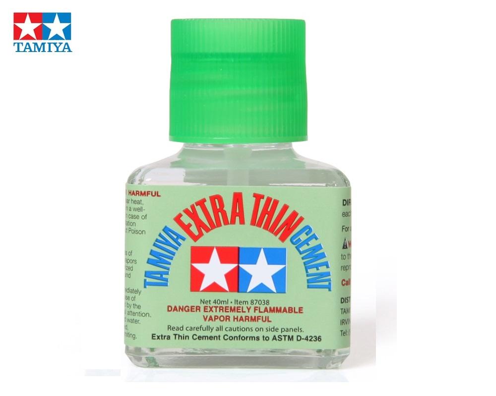 TAMIYA 87038 Pegamento Extra Diluído con Pincel Aplicador (40ml)