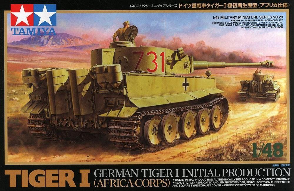 TAMIYA 32529 German Pz.Kpfw.VI Tiger I 'Initial Production' (Afrika Korps)