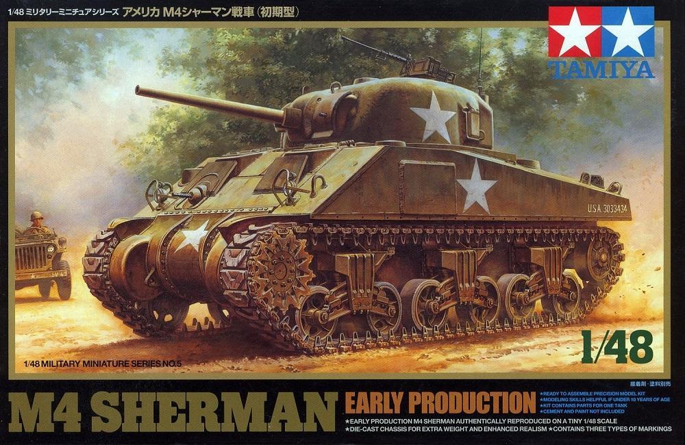 TAMIYA 32505 U.S. Medium Tank M4 'Sherman' (Early Production)