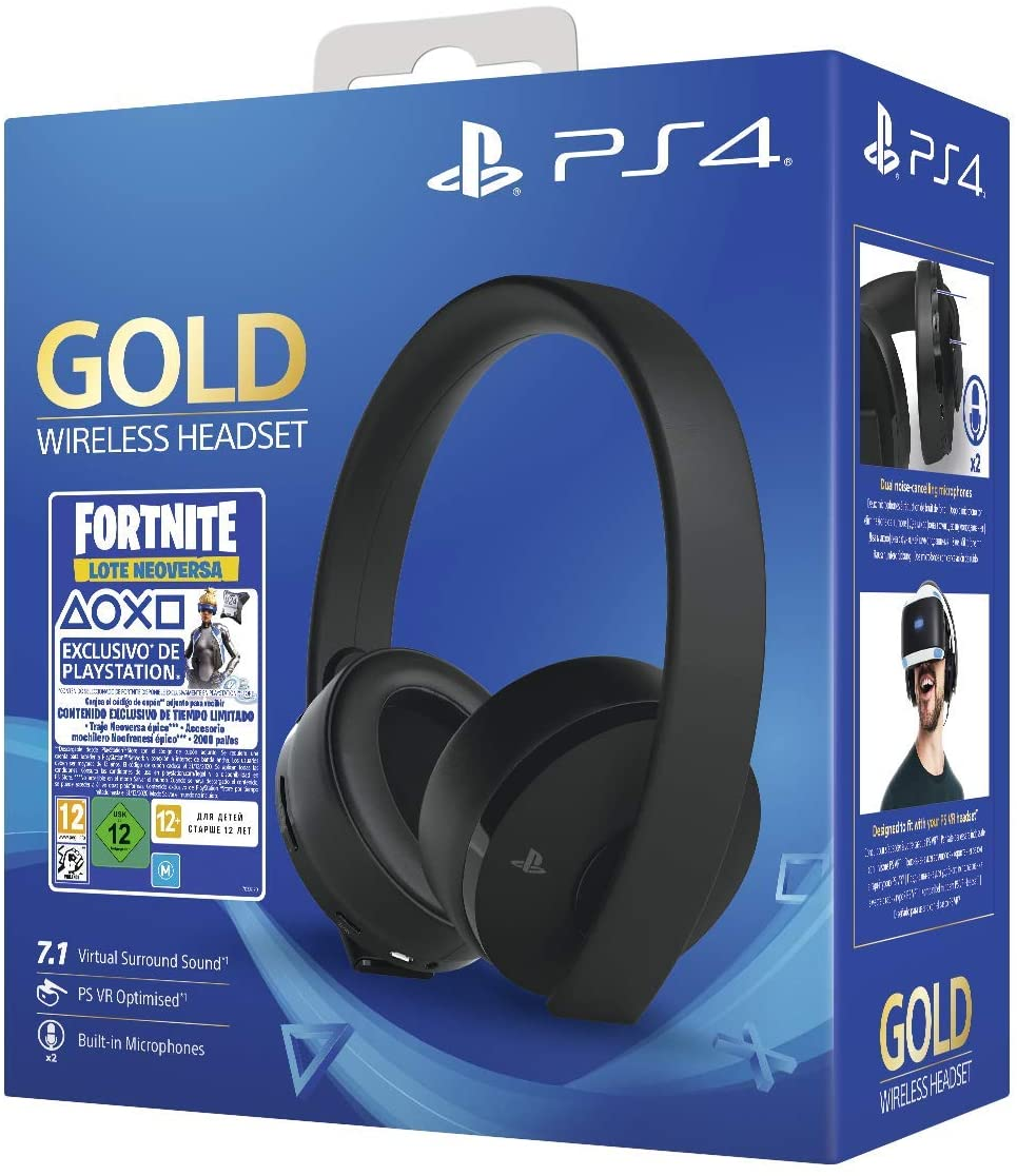 SONY GOLD WIRELESS HEADSET PS4 FORNITE- NEGRO