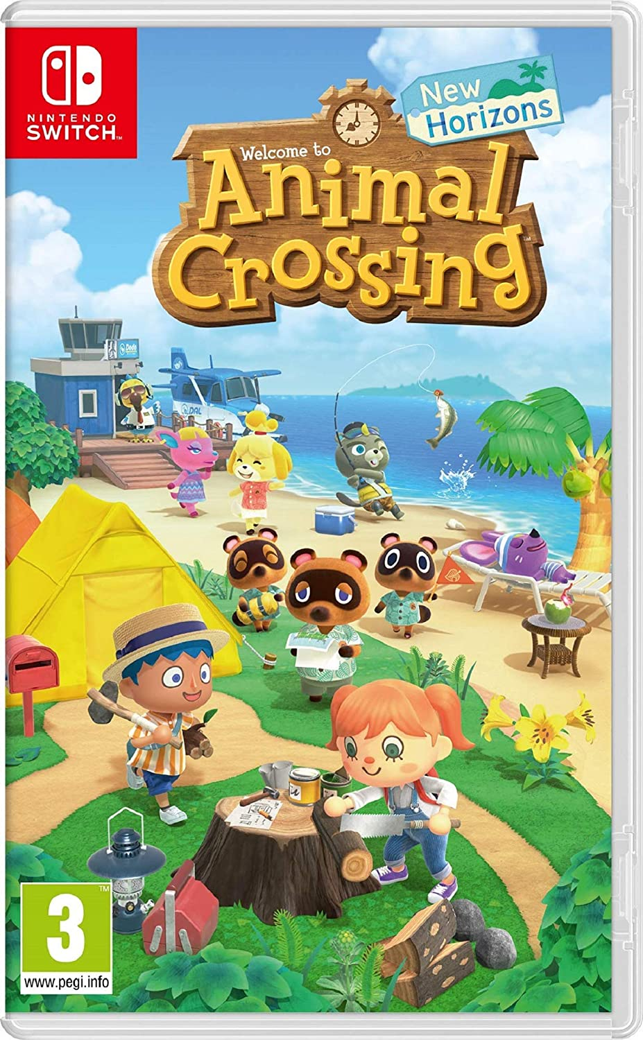 NINTENDO JUEGO SWITCH ANIMAL CROSSING: NEW HORIZON
