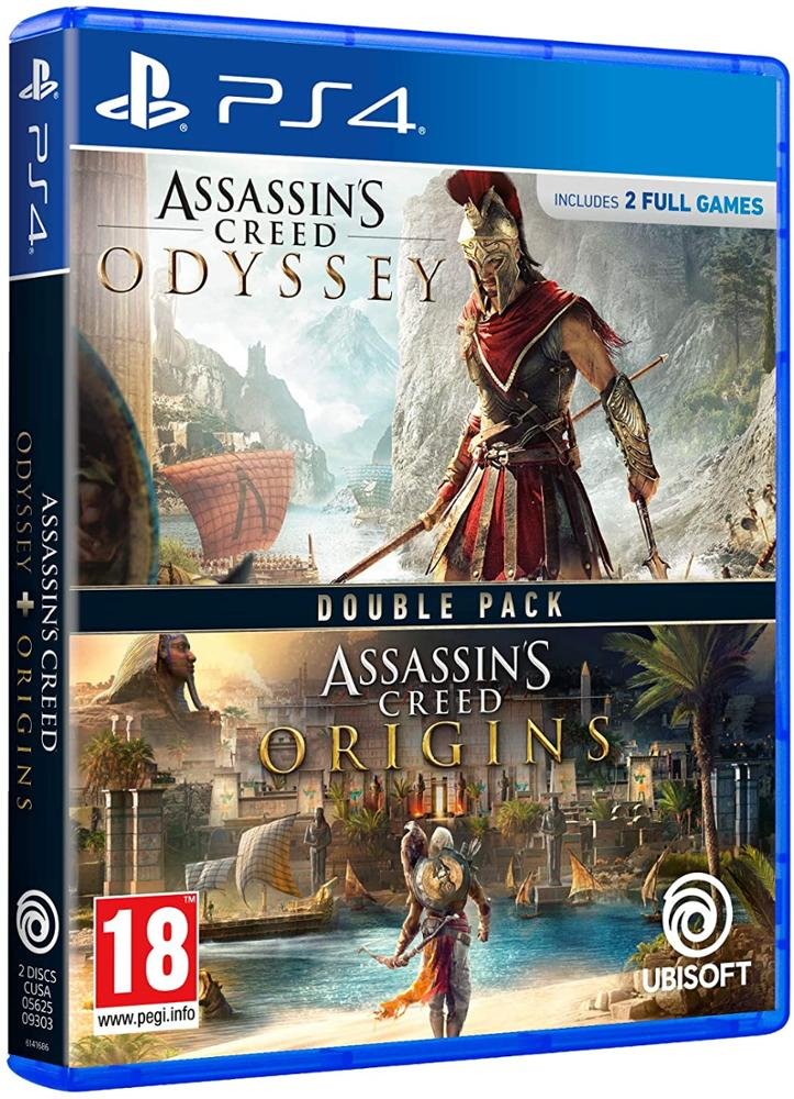 PS4 JUEGO ASSASSIN'S CREED ODYSSEY + ASSASSIN'S CREED ORIGINS DOUBLE PACK