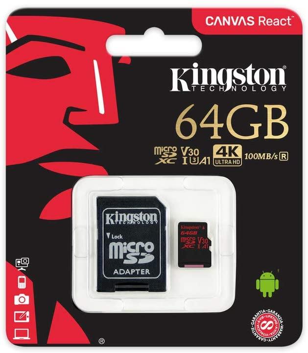 KINGSTON MEMORIA MICROSD 64GB EXTREME 4K