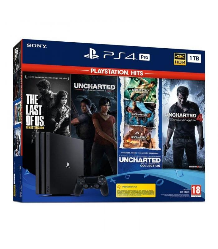 SONY CONSOLA PS4 PRO 1TB PACK UNCHARTED + THE LAST OF US