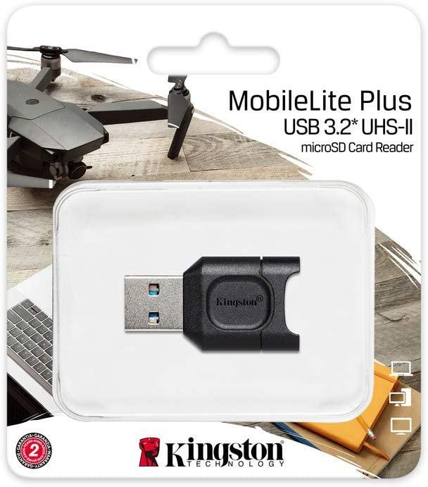 KINGSTON LECTOR TARJETAS MOBILELITE PLUS USB 3.1 MICROSDHC/SDXC UHS-II