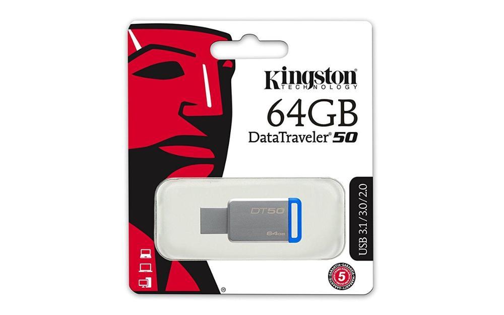 KINGSTON PENDRIVE USB 64GB DT50 AZUL