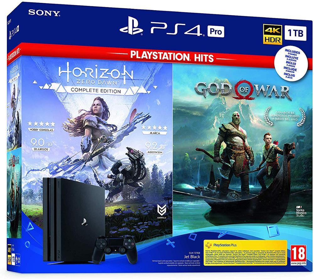 SONY PLAYSTATION 4 PRO 1TB + HORIZON ZERO DAWN COMPLETE ED. + GOD OF WAR