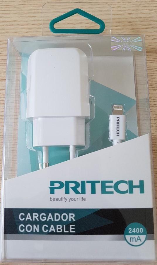 Pritech Cargador con Cable para Iphone Ipad 2.4A